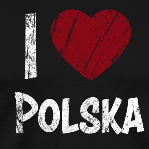 I Love Polska - Miesten premium t-paita