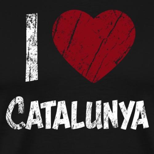 I Love Catalunya Katalonian parhaan t-paita sydän haer - Miesten premium t-paita