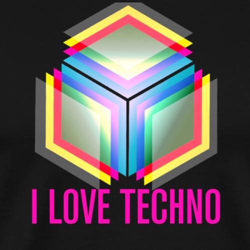 I Love Techno - Men's Premium T-Shirt