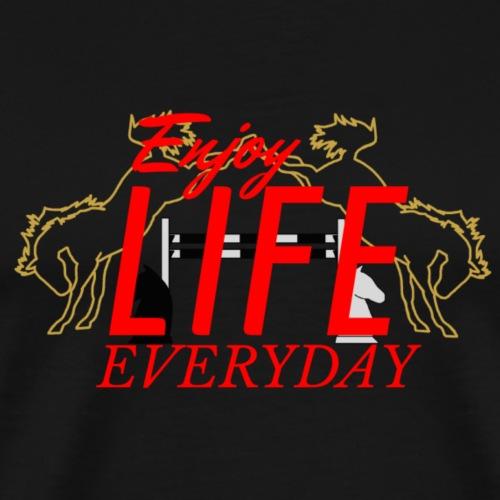 crazy A - Enjoy Life everyday | red - Männer Premium T-Shirt