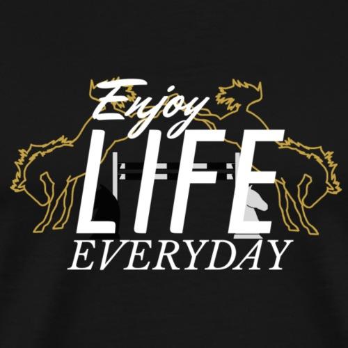 crazy A - Enjoy Life everyday | white - Männer Premium T-Shirt
