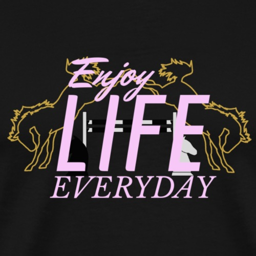 crazy A - Enjoy Life everyday | rosa - Männer Premium T-Shirt