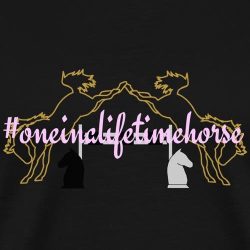 #oneinalifetimehorse | rosa - Männer Premium T-Shirt