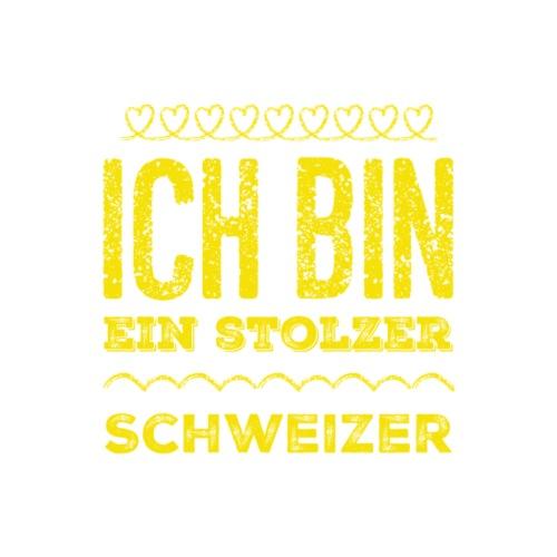 Ich bin ein stolzer Schweizer (Gelbe Schrift) - Männer Premium T-Shirt