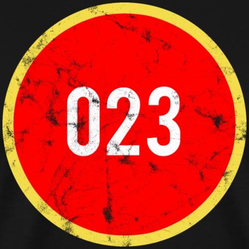 023 logo 2 washed regio Haarlem - Mannen Premium T-shirt
