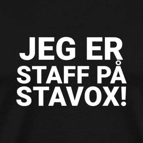 JEG ER STAFF PA STAVOX - Herre premium T-shirt