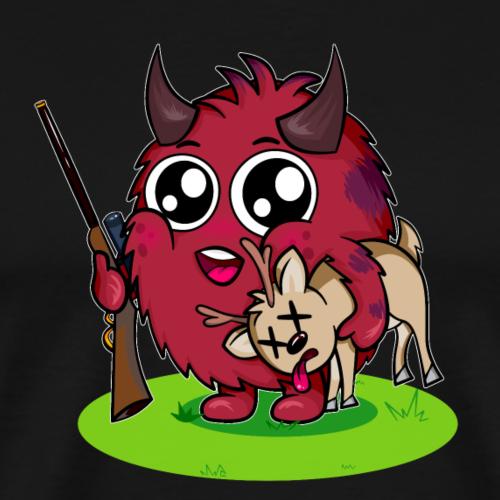 Flauschiger Jäger auf Wiese - Männer Premium T-Shirt