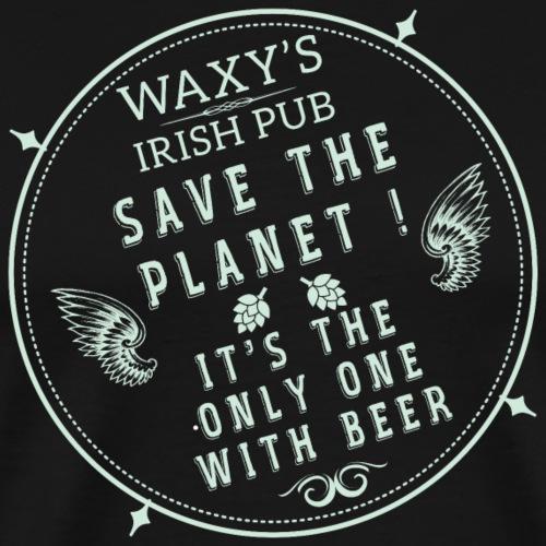 Waxys Save Beer - Men's Premium T-Shirt