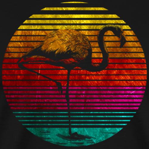 Flamingo Retro - T-shirt Premium Homme