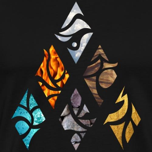 Six Elements of Nature - Männer Premium T-Shirt