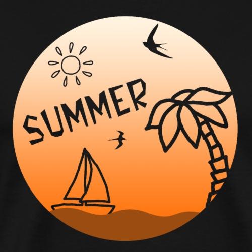 Summer - Miesten premium t-paita