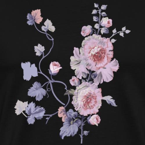 Schlichte Blumen - Männer Premium T-Shirt