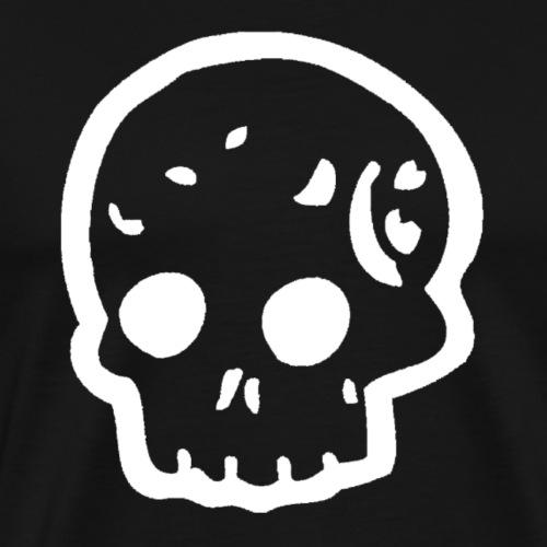 Skull logo whi