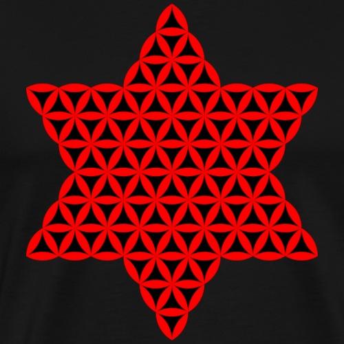 Star Of Life - Vector design, red - 3d - Men's Premium T-Shirt