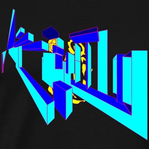 éclaté de cubes - T-shirt Premium Homme