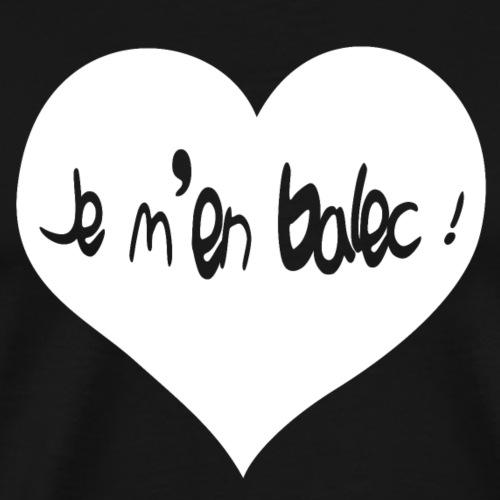 Balec Heart (white) - T-shirt Premium Homme