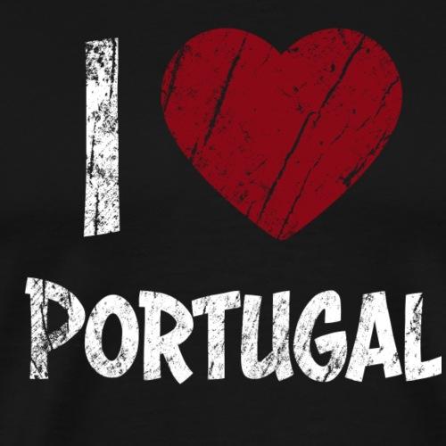 I Love Portugal - Miesten premium t-paita