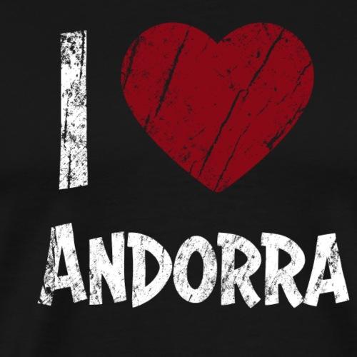 I Love Andorra - Miesten premium t-paita