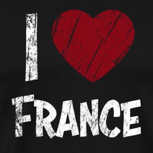 I Love France - Koszulka męska Premium
