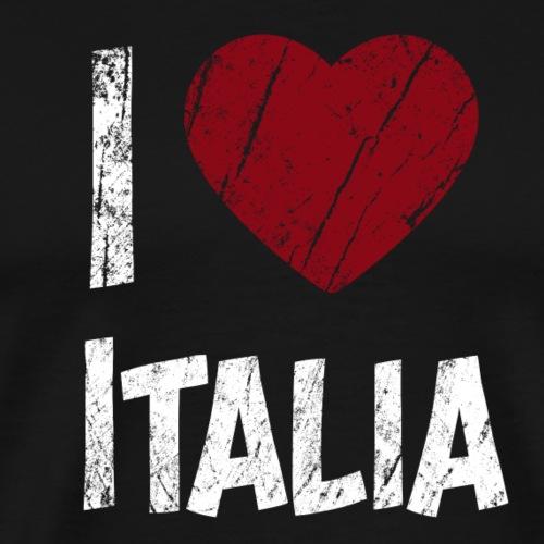 I Love Italia - Miesten premium t-paita
