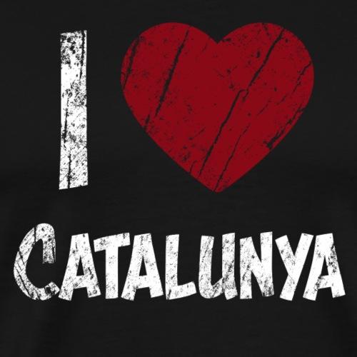 I Love Catalunya katalonien best t shirt herz haer - Männer Premium T-Shirt