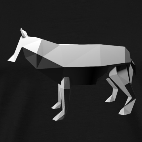 Wolf - Low Poly 3D - Mannen Premium T-shirt