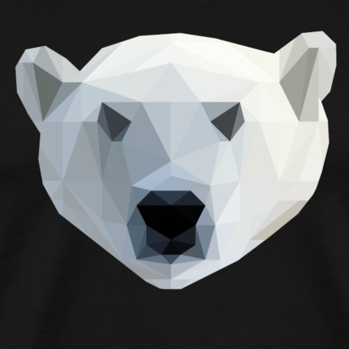 IJsbeer - Low Poly 2D - Mannen Premium T-shirt