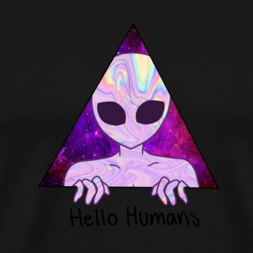 Alien/Hello Humans - Camiseta premium hombre