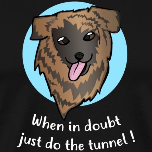 klares Gesicht gestromt Tunnel Text weiß - Männer Premium T-Shirt