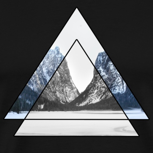 mountains geometric triangular landscape - Maglietta Premium da uomo