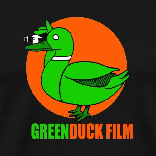 Greenduck Film Orange Sun Logo - Herre premium T-shirt