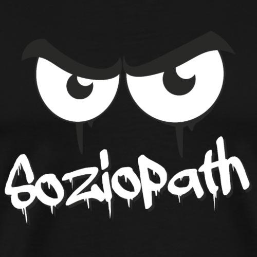 Soziopath - böser Blick - Männer Premium T-Shirt