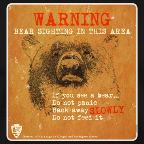 Bear sign - Camiseta premium hombre