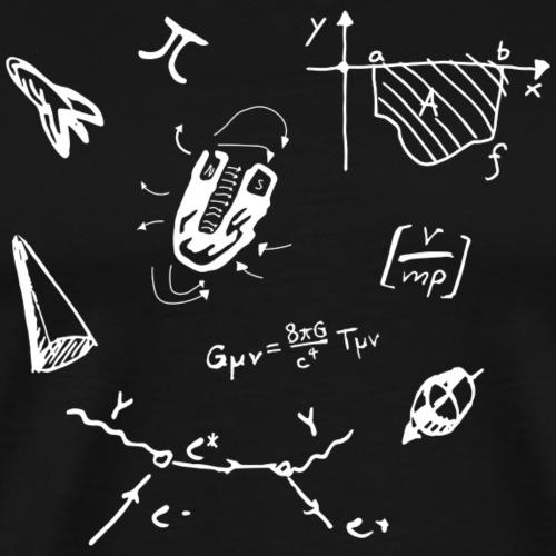 Doodles Weiss - Männer Premium T-Shirt