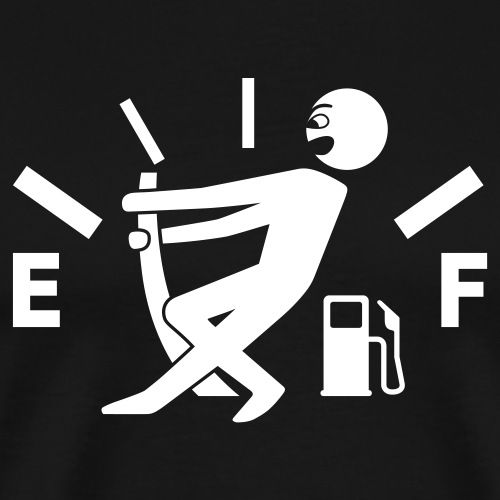 Empty tank - no fuel - fuel gauge - Men's Premium T-Shirt