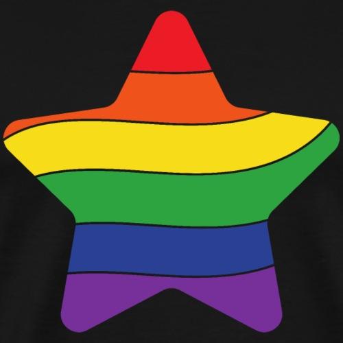 Regenbogen Stern   Pride - Männer Premium T-Shirt