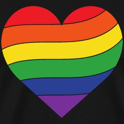 Regenbogen Herz   Pride - Männer Premium T-Shirt