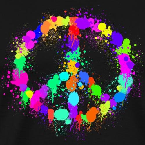Paint Splats for Peace - Men's Premium T-Shirt
