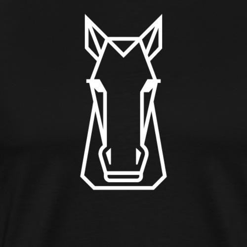 Weisses Pferd - Männer Premium T-Shirt