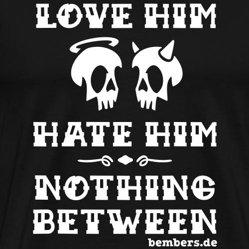 lovehateback - Männer Premium T-Shirt