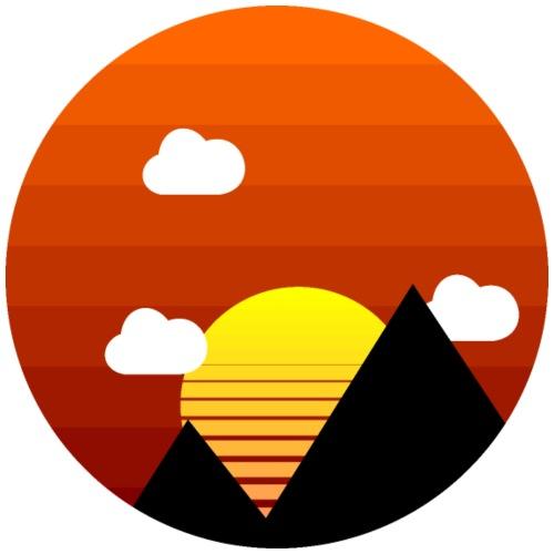 Sunrise retrowave - Sonnenaufgang - Männer Premium T-Shirt