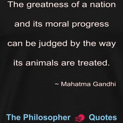Gandhi Animals w - Mannen Premium T-shirt