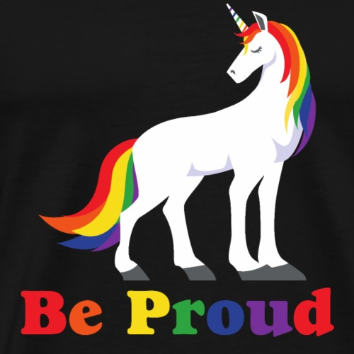 Einhorn | Regenbogen | Proud | LGBT - Männer Premium T-Shirt