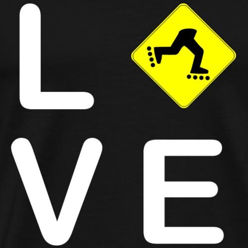 LOVE INLINE SKATEN - Männer Premium T-Shirt