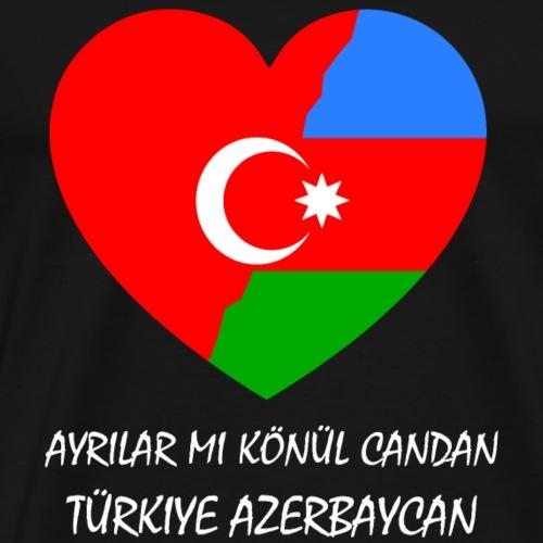 Türkei Aserbaidschan - Männer Premium T-Shirt
