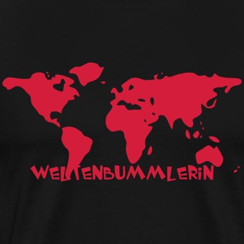 Weltkarte - Reisen macht glücklich - Männer Premium T-Shirt