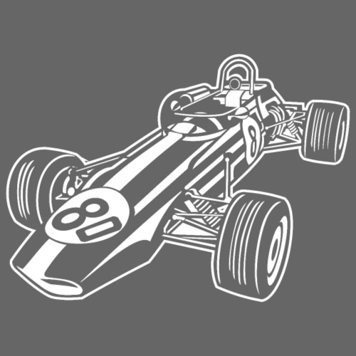 Rennwagen / Race Car 02_weiß - Männer Premium T-Shirt