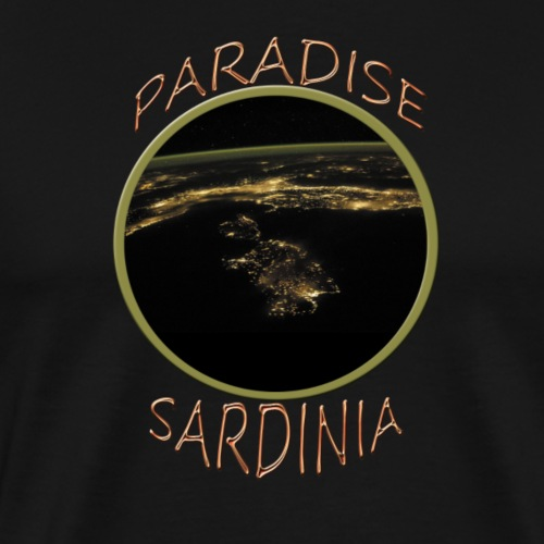 PARADISE SARDINIA by night - Männer Premium T-Shirt