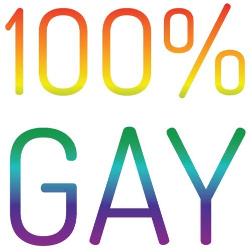 100% Gay in regenboog kleuren - Mannen Premium T-shirt