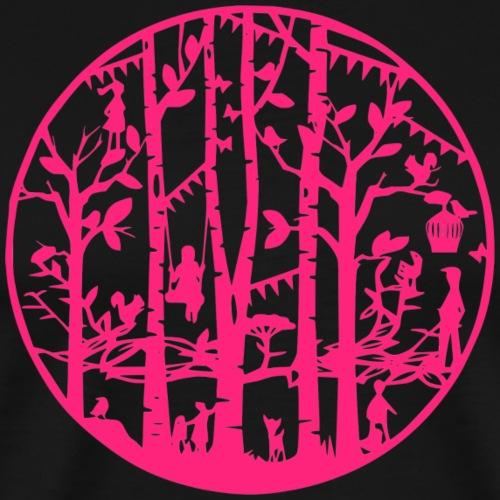 Mandala knipkunst zomer - Mannen Premium T-shirt